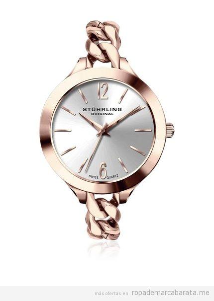Relojes mujer marca Stührling color rosa barato, outlet
