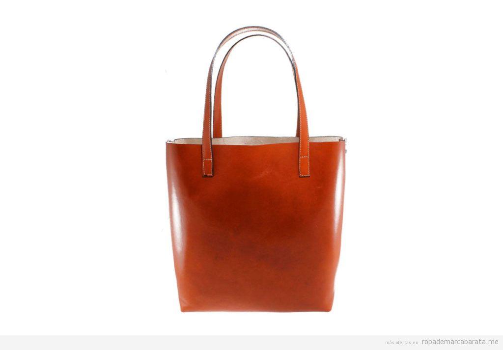 Bolsos piel marca Chiara Ferretti color marrón baratos, outlet