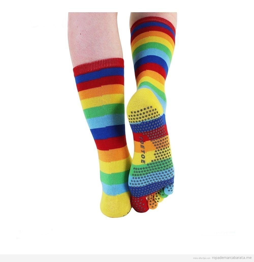 Calcetines dedos suelo goma para yoga marca Toe Toe rebajas