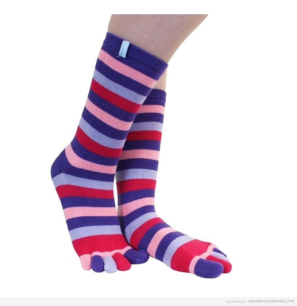 Calcetines dedos marca Toe Toe rayas rebajas