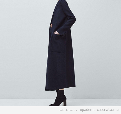 Outlet online ropa marca Mango, abrigo largo