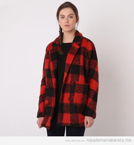 Abrigo cuadros manga larga marca Pepa Loves barato, outlet