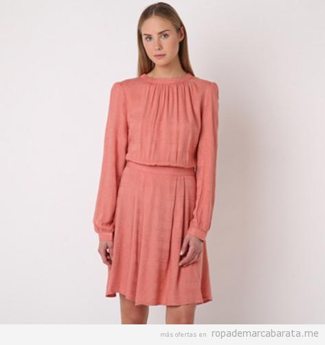 Vestido rosa evasé manga larga marca Pepa Loves barato, outlet