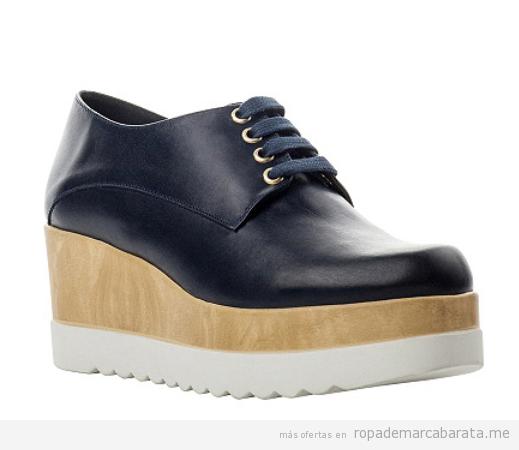 Zapatos derbie plataforma marca Antonio Miro baratos, outlet