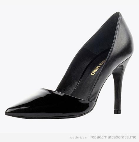 Zapatos tacón marca Antonio Miro baratos, outlet