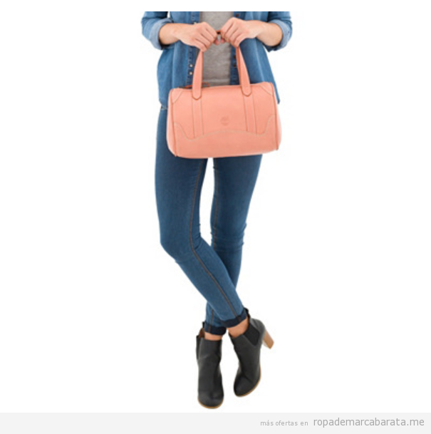 Bolsos bowling piel color rosa marca Timberland baratos, outlet