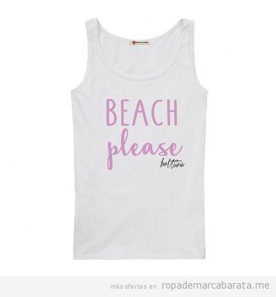 Camiseta tirantes surf de mujer marca Hot tuna barata, outlet