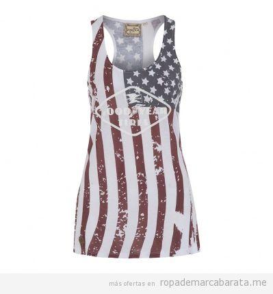 Camiseta de mujer estilo motero marca Goodyear barata, outlet