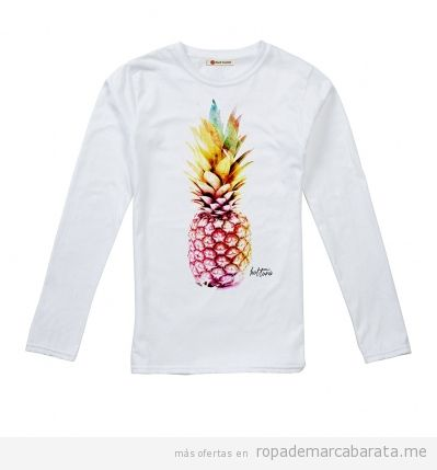 Camiseta piña surf de mujer marca Hot tuna barata, outlet