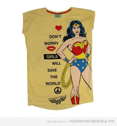 Camisetas baratas de Womderwoman, outlet online