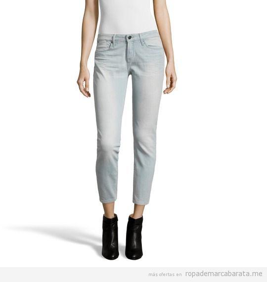 Pantalones vaqueros mujer marca Calvin Klein barato, outlet