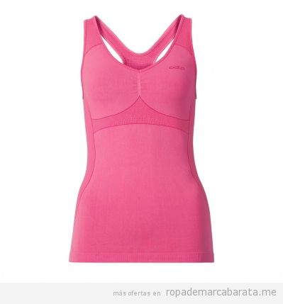 Camisetas térmicas de deporte running mujer marca Odlo baratas, outlet