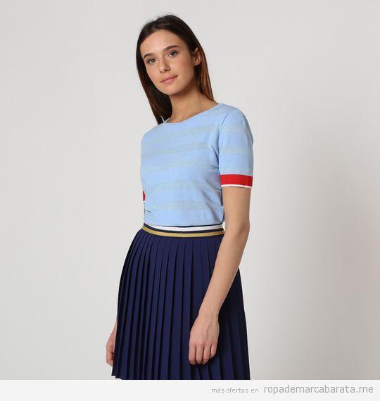 Jerséy y falda plisada mujer marca El Ganso baratas, outlet online