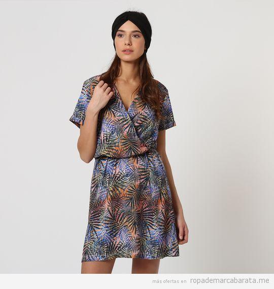 Vestido corto estampado marca Black Lab barato, outlet online