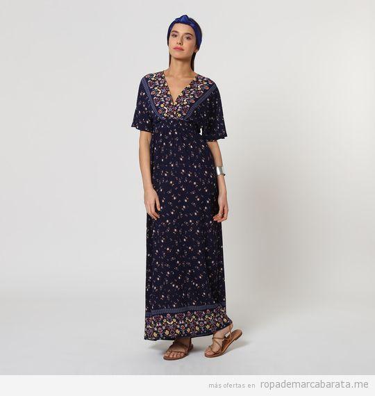 Vestido largo estampado marca Black Lab barato, outlet online