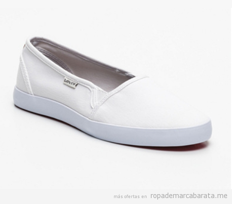 Zapatillas slippers mujer marca Levi's baratas, outlet
