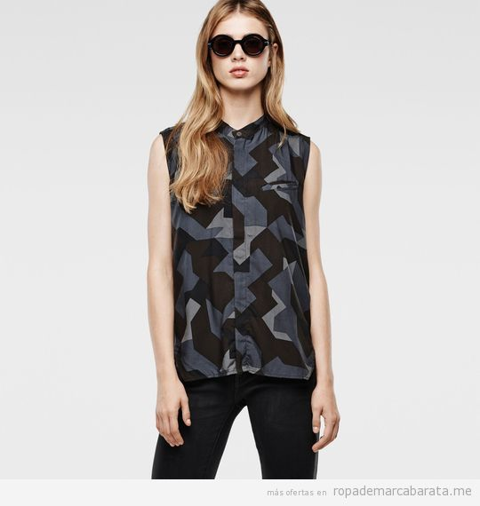 Camisa de mujer verano marca G-Star Raw barata, outlet