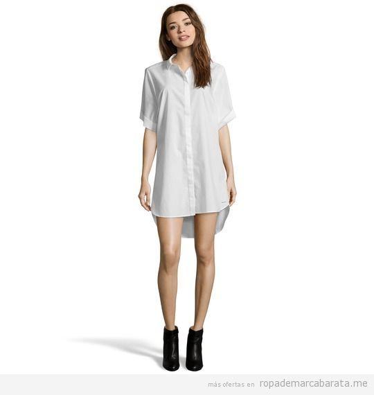 Vestidos camiseros mujer Calvin Klein Jeans baratos, outlet