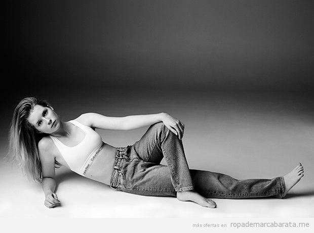 Pantalones vaqueros mujer marca Calvin Klein Jeans baratos, outlet 2