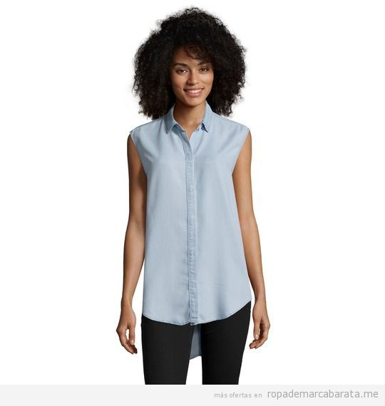 Camisa mujer marca Calvin Klein Jeans baratas, outlet