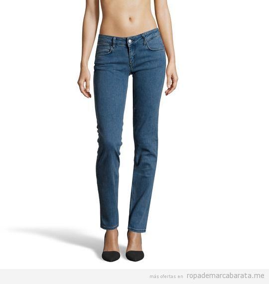 Pantalones vaqueros mujer marca Calvin Klein Jeans baratos, outlet