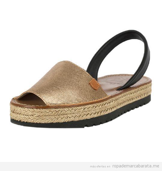 Sandalias menorquinas de plataforma marca Popa baratas, outlet 2