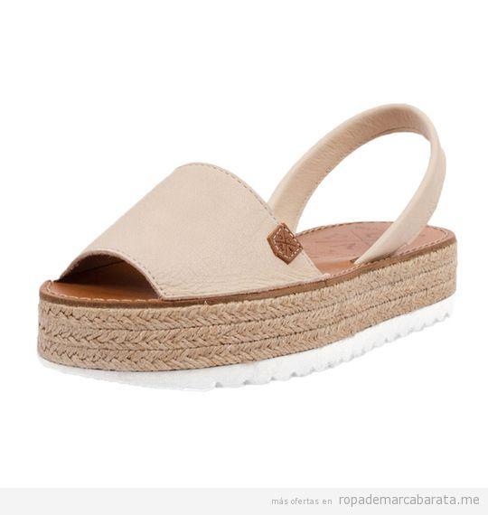 Sandalias menorquinas de plataforma marca Popa baratas, outlet