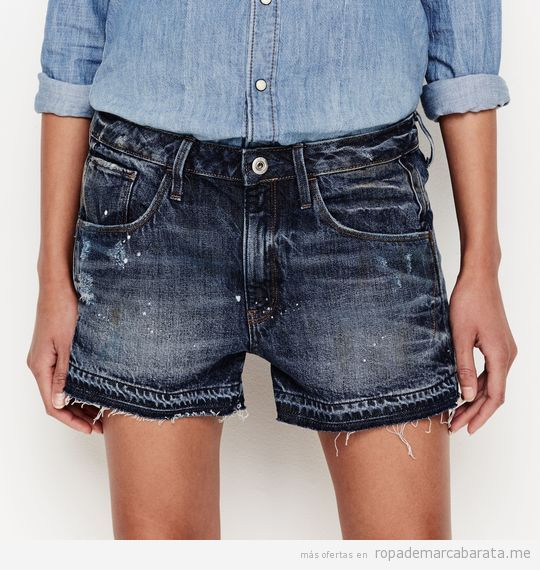 Shorts tejanos mujer verano marca G-Star Raw baratos, outlet