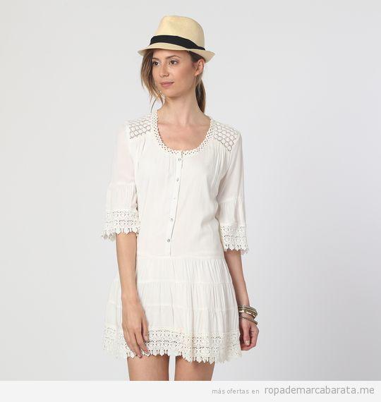 Vestido blanco crochet de verano marca Anany barato, outlet