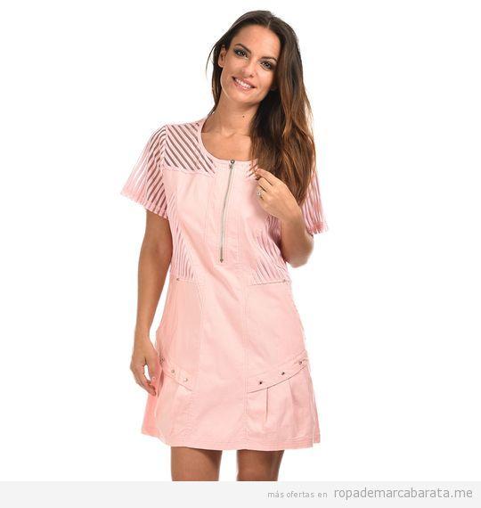 Vestido rosa tallas grandes barato, outlet