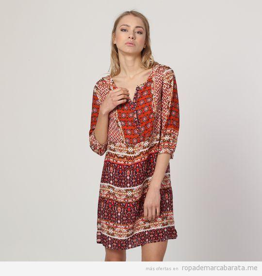 Vestido rojo de verano marca Anany barato, outlet