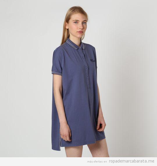 Vestidos polo de algodón marca Marville baratos, outlet