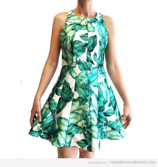 Vestidos estampados elegantes marca Barbarella baratos, outlet