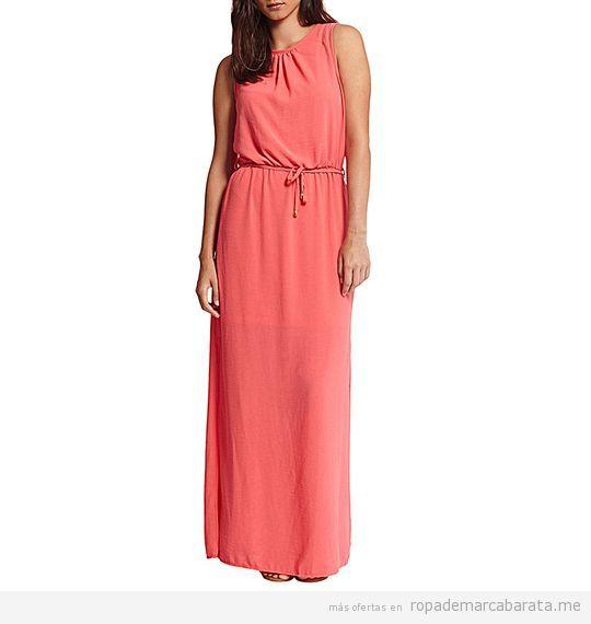 Vestido largo coral verano marca Morgan de Toi baratos, outlet