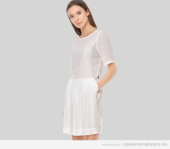 Vestido blanco marca sita murt barato, outlet online