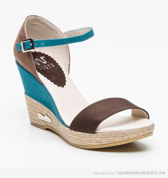 Sandalias cuña marca Sarah World baratas, outlet 2