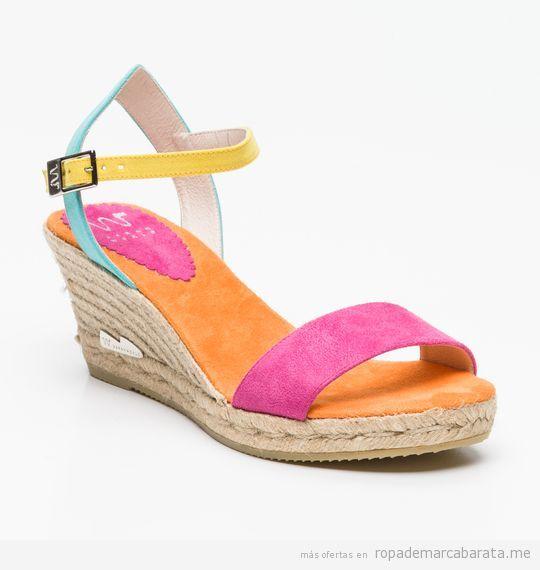 Sandalias cuña marca Sarah World baratas, outlet 3