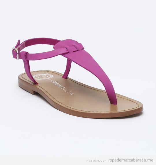 Sandalias de piel color rosa marca Les Bagatelles baratas, outlet