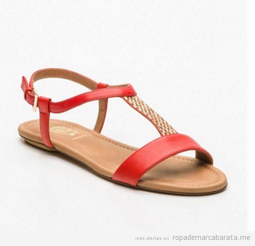 Sandalias planas rojas marca Loriblu baratas, outlet