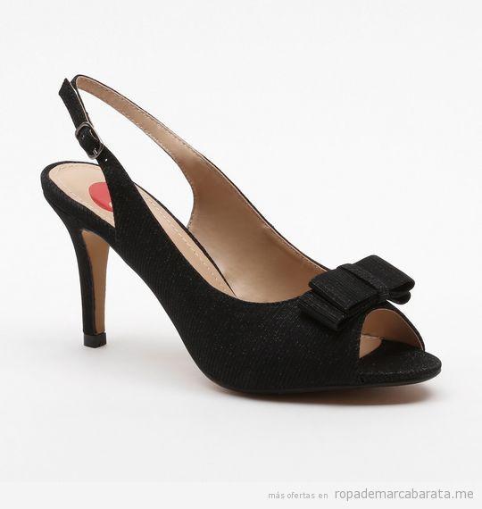 Zapatos peep toes marca Exé baratos, outlet