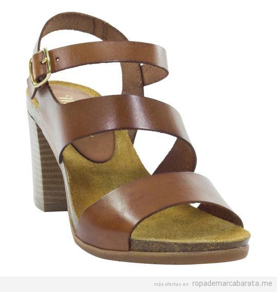 Sandalias de tacón marca Mia Loé baratas, outlet online 3