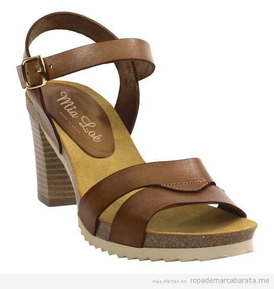 Sandalias de tacón marca Mia Loé baratas, outlet online 2