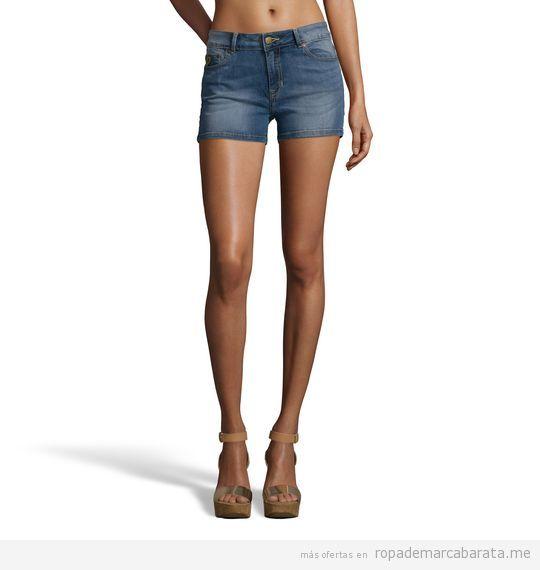 Pantalones shorts vaqueros mujer marca Lois baratos, outlet