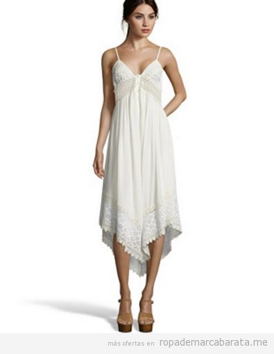 Vestido blanco marca Savage Culture barato, outlet