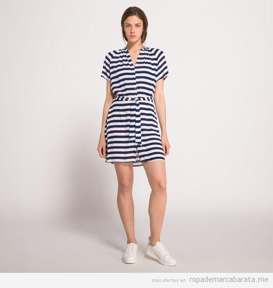 Vestido rayas marca American Vintage barato, outlet