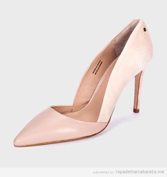 Zapatos de tacón nude marca Martinelli baratos, outlet