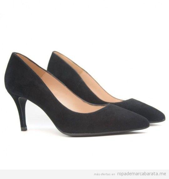 Zapatos de tacón negros de la marca Renatta baratos, outlet