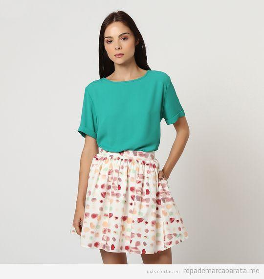 Camiseta y falda marca Victorio y Lucchino baratos, outlet
