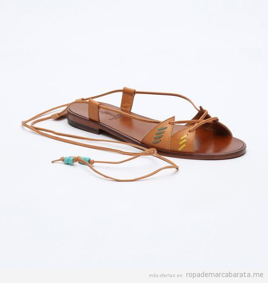 Sandalias de piel marrón marca Medwinds baratas, outlet
