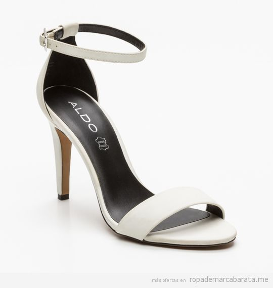 Sandalias blancas de tacón marca Aldo baratas, outlet